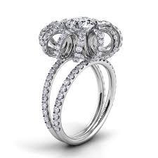 danhov engagement rings danhov couture split shank swirl engagement ring ce154