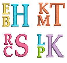 stacked monogram stacked embroidery monogram alphabet