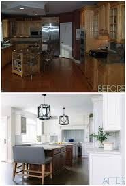 before and after double island kitchen renovation home bunch