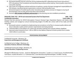 Test Engineer Resume Template Manufacturing Test Engineer Cover Letter Internships Link