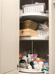 how to organize a lazy susan cabinet medicine cabinet organization ideas and tips twelve on