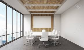 meeting room interior in modern office whiteboard large window