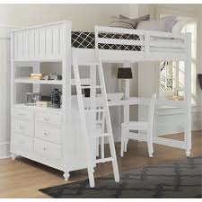 NE Kids Lake House Full High Loft Bed Stone Grey Kids N Cribs - Ne kids bunk beds