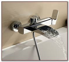 Bathtub Faucets With Sprayer Deck Mount Bathtub Faucet With Sprayer Sinks And Faucets Home