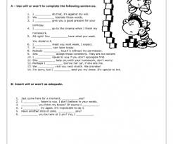 verbs will won u0027t worksheet