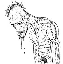 scary zombie coloring pages 2 coloringstar
