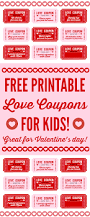 free printable love coupons for kids on valentine u0027s day catch my