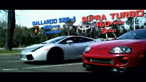 custom supra interior toyota supra turbo vs lamborghini gallardo youtube