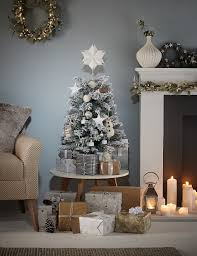 small flocked christmas tree christmas ideas