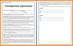 contract picture of consignment contract template consignment