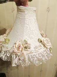 Home Decor Shabby Chic by Sold Handmade Pink Rose And Lace Lamp Shade Shabby Chic Style