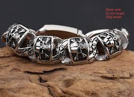 skull link bracelet images 150g heavy cool gothic men biker skull link bracelet stainless jpg