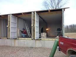 joseph dupuis shipping container home interior front room amys