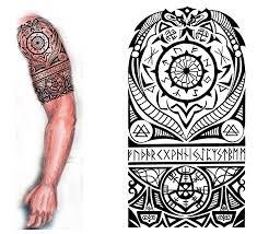 small viking warrior tattoo