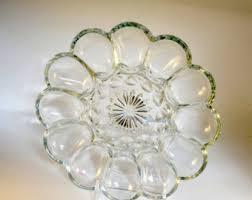 glass egg plate vintage egg plate etsy