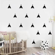 tipi enfant chambre peu tipi stickers muraux nordique style vinyle stickers muraux
