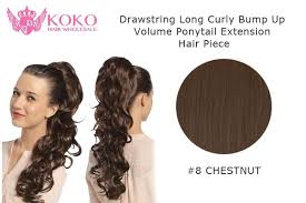 ponytail extension 22 drawstring curly bump up volume ponytail extension hair