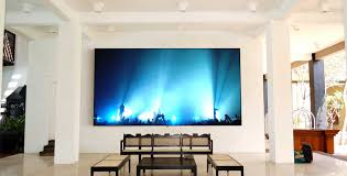 motorized home theater screen commercial projection screens 5 series zero edge