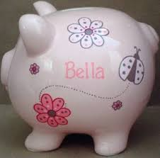 monogrammed piggy bank cool and piggy banks