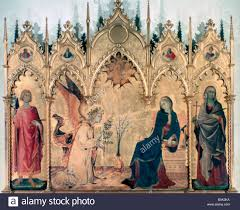 martini two the annunciation and two saints u0027 1333 artist simone martini