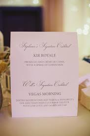 signature cocktail bar menus from real weddings inside weddings