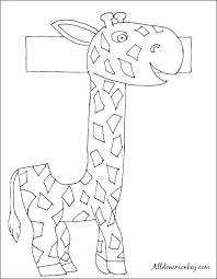 spanish coloring page j es de jirafa all done monkey