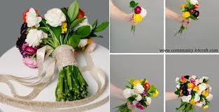 How To Make Wedding Bouquet How To Make A Diy Wedding Bouquet Tutorial Craft Community