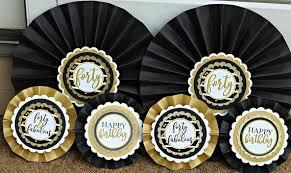 40th birthday decorations 40th birthday decorations decorative rosettes paper fans