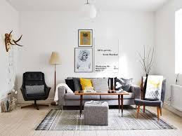 Leather Black Living Room Swivel Chair Living Room Bright Scandinavian Living Room Design With L Shape