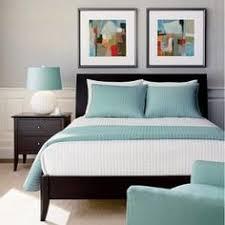 dreamy blue grey walls with dark furniture bedroom pinterest