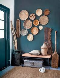 image result for dark teal complementary colors foyer decor