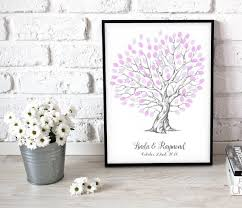 personalised wedding gifts heart shaped wedding tree personalised wedding fingerprint tree