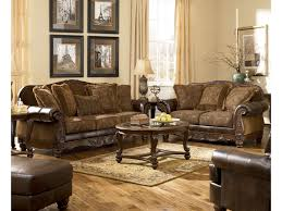Living Room Setting by Signature Design By Ashley Fresco Durablend Antique Traditional