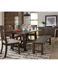 dining table with 10 chairs ember 6 piece dining room furniture set created for macys table