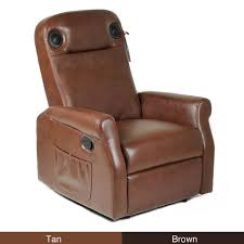 soundome wireless gaming home theater leather recliner chair with