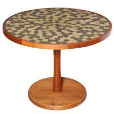 Ceramic Side Table Circa 1960 Jane And Gordon Martz Ceramic Tile Top With Walnut