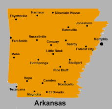 us map with arkansas hotels in arkansas usa
