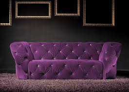 canape violet canapé 3 places velours violet royal chesterfield lestendances fr