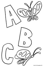 abc butterflies alphabet printablee4df coloring pages printable