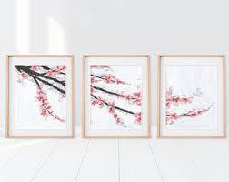 cherry blossom art etsy