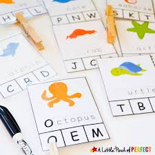 animal free printable clip cards for letter recognition