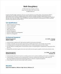 Electronic Resume Example by Receptionist Resume Template 7 Free Word Pdf Document Download