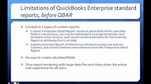 quickbooks enterprise advanced reporting part 1 enterprise