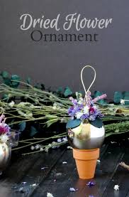 dried flower ornaments to trim the tree hearth vine
