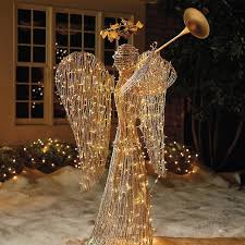 lighted rattan trumpet outdoor decorations
