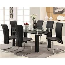 Acme Furniture Dining Room Set Acme Furniture Riggan Contemporary Black Dining Table With Block