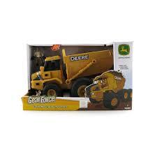 minecraft dump truck john deere gear force earth moving dump truck toys