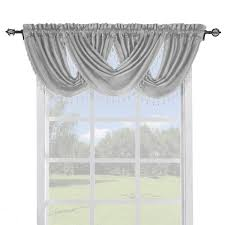 Cheap Curtains And Valances Soho Faux Silk Curtain Panels Or Waterfall Valance Single