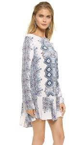 free people smooth talker mini dress night combo lyst