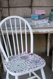 Shabby Chic Chair by Mosaic Chair Shabby Chic Mosaics Shabby By Dkshopgirl On Zibbet
